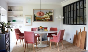 'We naively thought we'd just give it a lick of paint': the dining room.