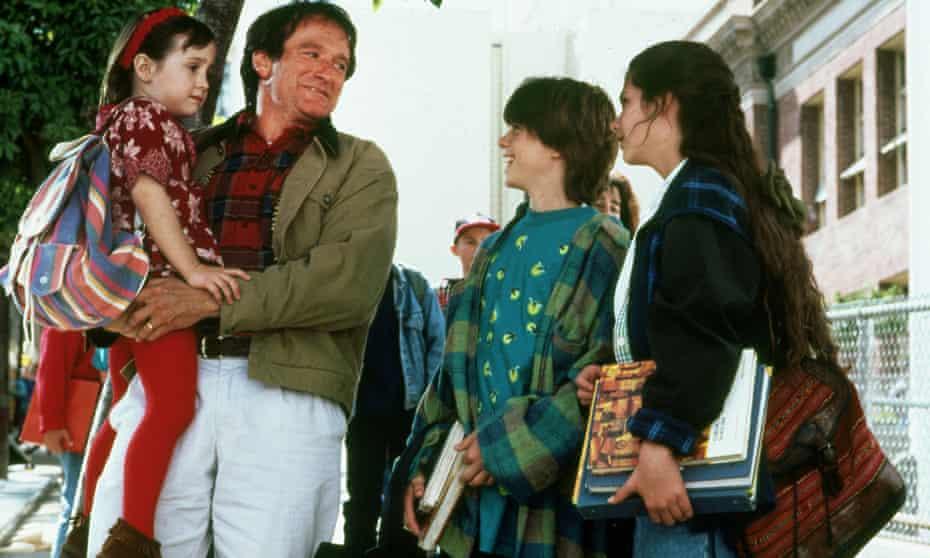 A lot of questionable decisions … Robin Williams as Daniel Hillard in Mrs Doubtfire.