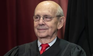Stephen Breyer, the oldest member of the supreme court bench at 83.