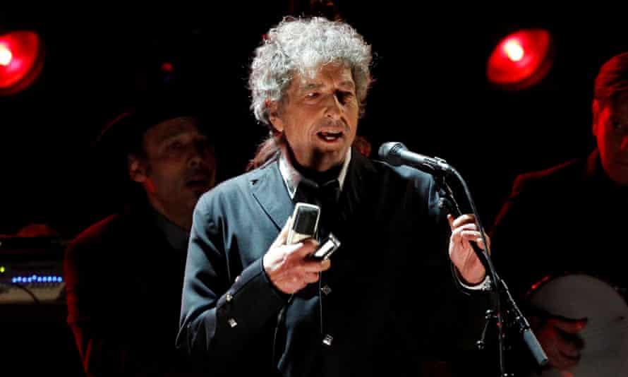 Bob Dylan performing in 2012.