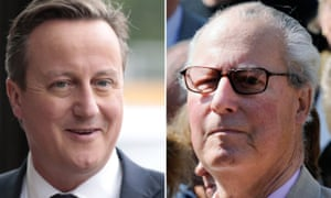 Composite of David Cameron and his father Ian Cameron