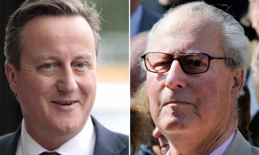 David Cameron and his father, Ian Cameron