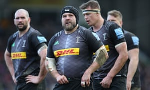 Mark Lambert of Harlequins (centre) says 'players are the lifeblood of the game and should be treated with respect'