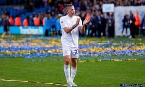 Leeds goalscorer Kalvin Phillips applauds fans as the club celebrated its centenary with an important win.