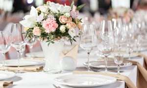 Tables set: you don't necessarily have to give people what they expect. It's your day, after all.