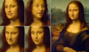 Using artificial intelligence, Egor Zakharov made a realistic film of the Mona Lisa speaking and moving her head.