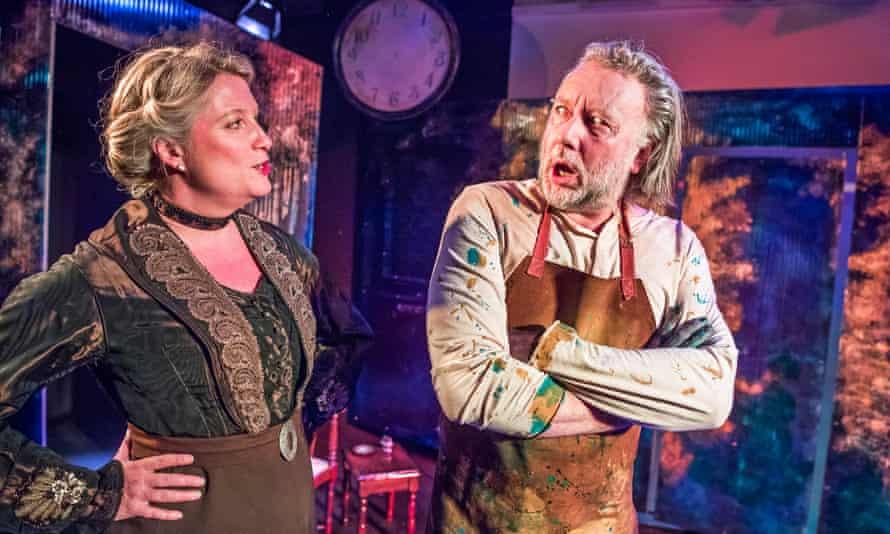 Spirited... Susannah Harker as Siri and Britton as Strindberg.