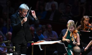 Edward Gardner and Alina Ibragimova, soloist in Rolf Wallin's Whirld, premiered at the BBC Proms.