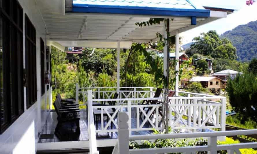 Mountain views at the Kinabalu Pine Resort, Sabah, Malaysia.