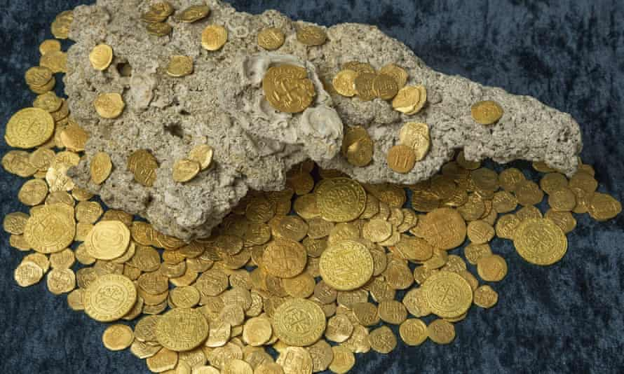 Treasure hunters found 350 coins worth $4.5m, the most valuable find from the 1715 shipwreck site in recent decades.
