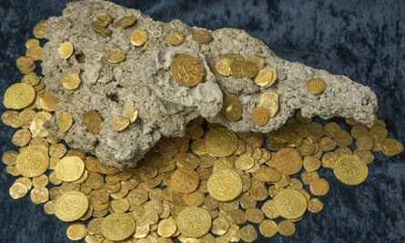 That sinking feeling: gold coins recovered from a Spanish shipwreck