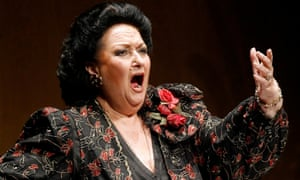 Montserrat Caballé on stage in Santander, northern Spain, in 2006.
