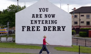 Youths have threatened to burn the Free Derry wall in the Bogside area