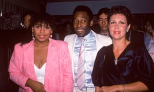 Kely (left) in 1985 with Pelé and Regina Dante at a film premiere in New York