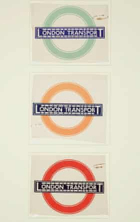 Johnston's original 'bullseye' design for the tube.