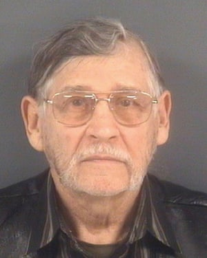 Booking photo of John Franklin McGraw of Linden, N.C. He's charged with assault and battery and disorderly conduct.