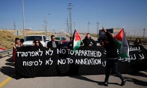 Palestinian, Israeli and foreign protesters take part in a demonstration against the newly opened Route 4370 on Wednesday.