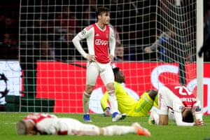 Meanwhile, Nicolas Tagliafico and his Ajax teammates are crestfallen