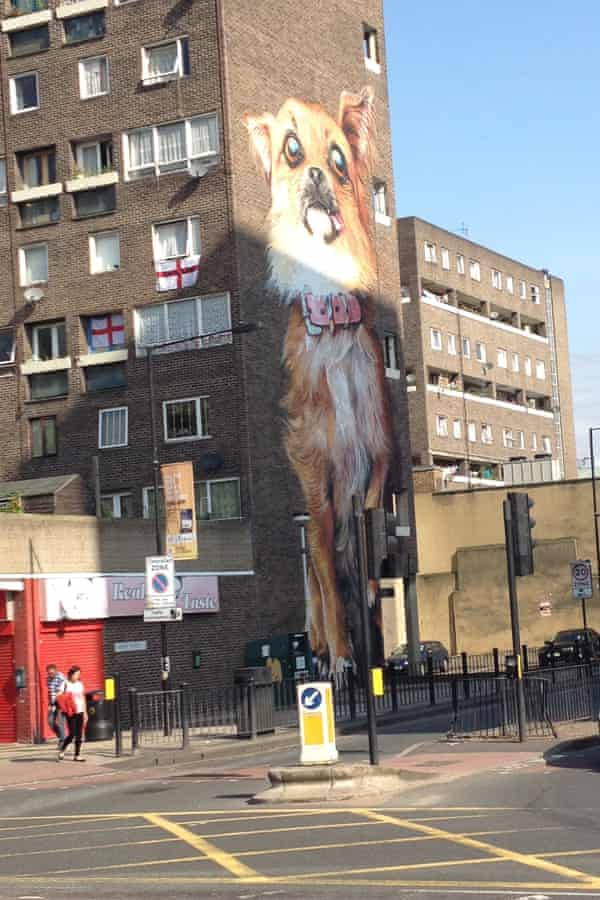 The 'Chihuahuazila' mural in Poplar.