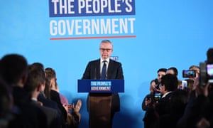 Michael Gove speaking at the QEII Centre in London.