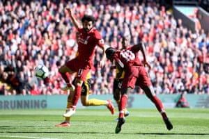 Mane scores Liverpool's second.
