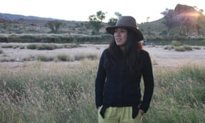 Monica Tan during her road trip around Australia