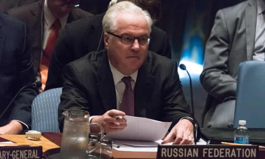 Russia's UN ambassador, Vitaly Churkin