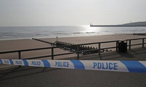 A police cordon in place on Aberdeen beach after the incident