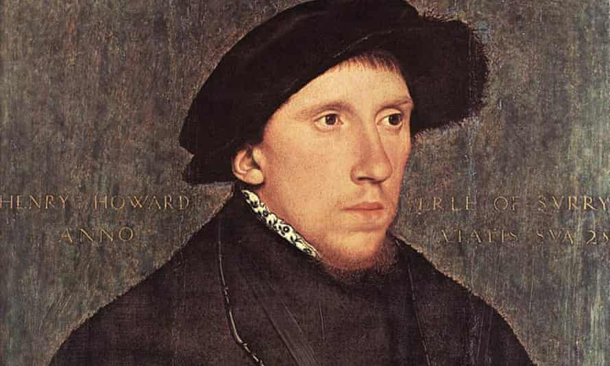 Detail from Hans Holbein's portrait of Henry Howard, c 1542.