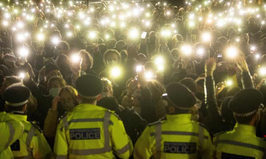 Vigil for Sarah Everard on Clapham Common