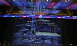 Spanish stock market electronic boards
