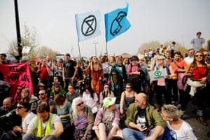 Activists blockade Waterloo Bridge