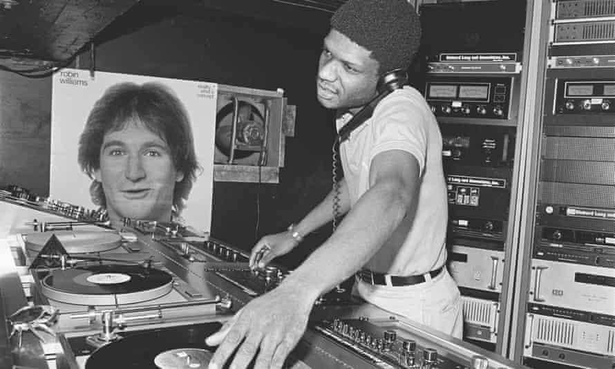 DJ Larry Levan at the Paradise Garage, New York in 1978.