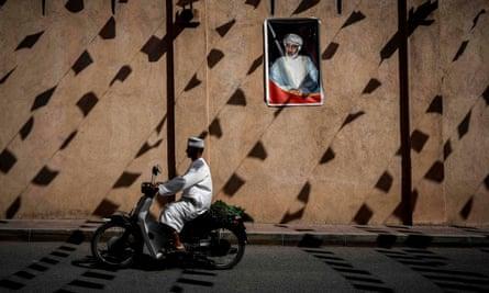 A wall of the Nizwa fort, Oman.