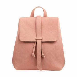 pale pink leather backpack, Jigsaw