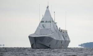 A Swedish military vessel