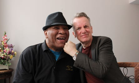 Frank Skinner with Rahman Ali, Muhammed Ali's brother.