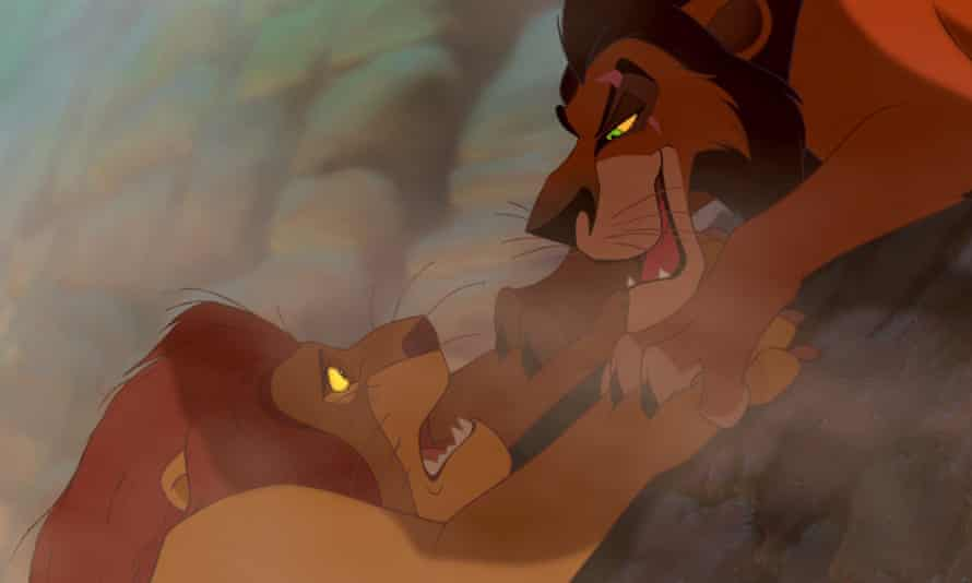 Mufasa meets his doom in The Lion King