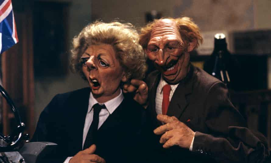 Margaret Thatcher and Neil Kinnock were regular targets of Spitting Image's robust satire in the 1980s and 1990s.