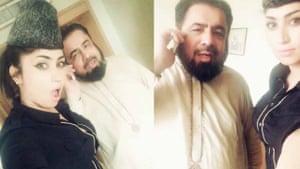 Pakistani social media star Qandeel Baloch and mullah Abdul Qavi in a Karachi hotel room