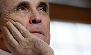 Embracing the post-untruth age … Trump's legal adviser Giuliani.