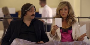 Berry with Tracy-Ann Oberman in Toast of London.