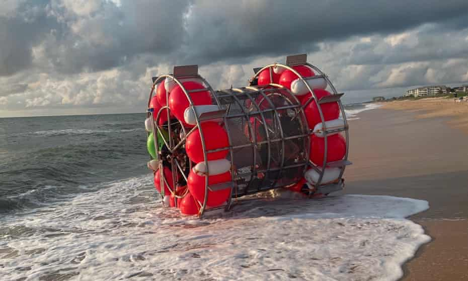 Florida man washes ashore after trying to 'walk' to New York in bubble device   Florida   The Guardian
