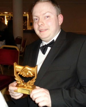 David Gale with his 2016 Community Volunteer of the Year award by Diverse Cumbria