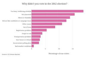 Why didn't you vote in the 2012 election-