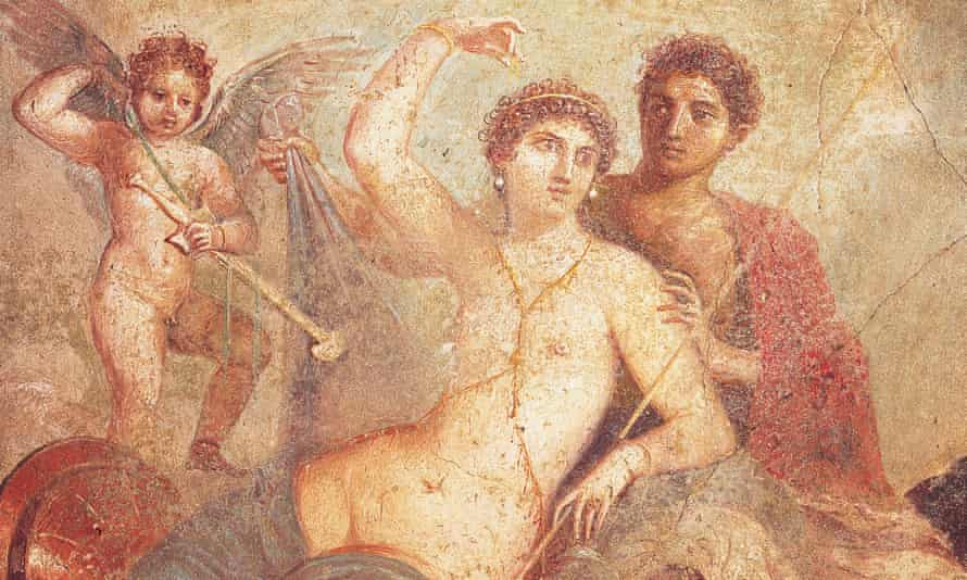Detail from a fresco depicting Ares and Aphrodite (AD45-79).