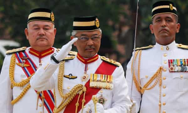 The king of Malaysia, Sultan Abdullah Sultan Ahmad Shah