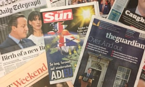 National newspapers sales rose folowing the Brexit vote