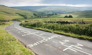 Ahead of the 2014 Tour de France, cycling fans graffitied the road on Kidstones Pass, or Côte de Kidstones, a challenging category-four climb.