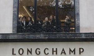 Employees stranded in the Longchamp store on the famed Champs-Élysées in Paris